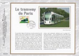 """CEF 1° Jour En SOIE De 2006 N° 1863s """" LE TRAMWAY DE PARIS """" N° YT 3995. Parfait état + Prix Dégressif. - Tramways"""