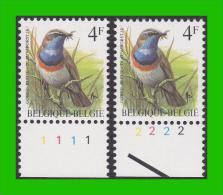 BUZIN - 2321** Gorge Bleue / Blauwborstje - H4 (groene Gom Verte) - PL1+2 - 1985-.. Oiseaux (Buzin)