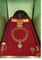 S M L'Empereur 1er Napoléon Chapeau Eylau Insigne Plaque Grand Aigle Collier Légion Honneur épée Austerlitz (cp Vierge) - Politicians & Soldiers