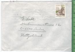 1979, Schweden,  EF, Auf Brief, Brief Gelaufen, 5.11.79 GestempeltGröße: 16 X 11,5 CmZustand: I-II (H)Wir Haben Ständig - Briefe U. Dokumente