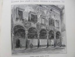 Italia Südtirol  Trentino - TRENTO Trient  -Castello Buon Consiglio    -Loggia    Ca  1893  Print  1.OM10.439 - Prints & Engravings