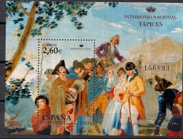 2008 Spanien Mi.Bl. 174 **MNH  Nationales Kulturerbe - Wandteppiche - Bosnien-Herzegowina