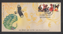 INDIA, 2010,  FDC,  India-Mexico Joint Issue. Dances,   Mumbai Cancellation - FDC