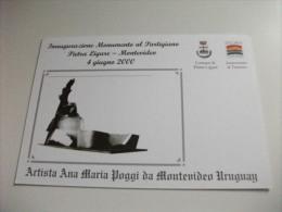 Inaugurazione Monumento Al Partigiano Pietra Ligure -montevideo 4 Giugno 2000 Artista Ana Maria Poggi Uruguay - Monuments