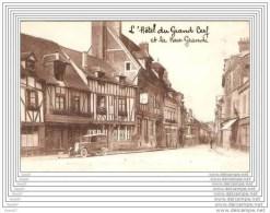 CPA  27  LES ANDELYS  / HOTEL DU GRAND CERF ET GRANDE RUE - Les Andelys