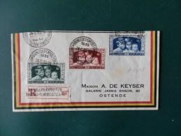 A4045   FRAGMENT DE LETTRE RECOMM. BRUXELLES EXP. 1935 - Unclassified