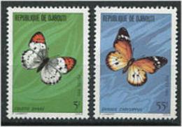 DJIBOUTI 1980 - Papillons Butterflies Schmetterling Mariposas - Neuf * Avec Trace De Charniere (Yvert 517/18) - Schmetterlinge