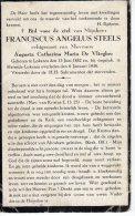 DP: Franciscus Steels - De Vliegher  - Lokeren - Vieux Papiers