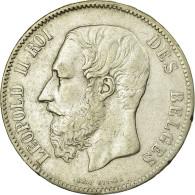 [#32115] Belgique, Léopold II, 5 Francs - 09. 5 Francs