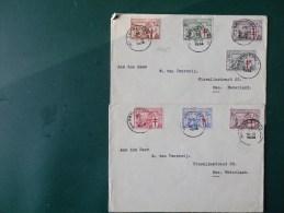 A4089  2 LETTRES POUR LA HOLLANDE  SERIE COMPLET   1934 - België
