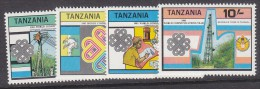 TANZANIA, 1983 COMMUNICATIONS 4 MNH - Tanzania (1964-...)
