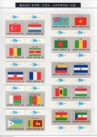 O.N.U. -- UNITE STATES / STATI UNITI -- 1980/1989 --BANDIERE CON BANDELLE   **MNH - Timbres