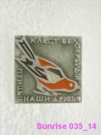 Animals: White-winged Crossbill - National Park / Old Soviet Badge_035_an3672 - Animaux