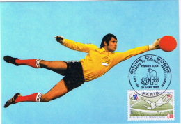 BARATELLI  GARDIEN CARTE FDC PREMIER JOUR 1982 - Voetbal
