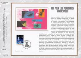 """Feuillet CEF 1° Jour N°té En Soie De 2005 N° 1781s """" LOI POUR LES PERS. HANDICAP."""" N° YT 3809. Parfait état + Prix Dégr. - 2000-2009"""