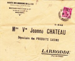 1939 - MERCURE PERFORE GP (GUICHARD-PERRACHON) Sur ENVELOPPE De SAINT ETIENNE (LOIRE) - France