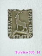 Animals: Chibouk - Mountain-goat - National Park Zhiguli / Old Soviet Badge_035_an3680 - Animals