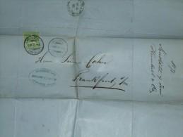 SWITZERLAND 1878 ENTIRE NEUCHATEL TO FRANKFURT - Briefe U. Dokumente