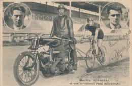 MOTOCYCLISME, CYCLISME - Maurice Benassac Et Son Entraineur - Passage à Tunis 1928 - Moto