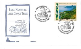 ITALIA FDC CAPITOLIUM ANNO 13/2013 - PARCO NAZIONALE DELLE CINQUE TERRE - 6. 1946-.. Repubblica