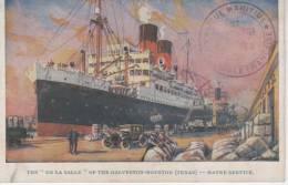 "The ""De La Salle"" Of The Galveston-Houston (Texas) - Havre Service - Paquebots"