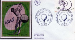 FDC 1ER JOUR  SOIE 18/10/1980  PARIS FEDEDERATION FRANCAISE DE GOLF - FDC