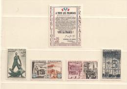 FRANCE  ( D15- 5238 )   1964  N°YVERT ET TELLIER  N° 1407/1411  N** - France