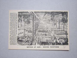 Cartolina Britain At War: Making Munitions. The Hall Of The Million Shells. Prima Guerra Mondiale - Manovre