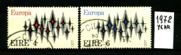 -EUROPA - CEPT- IRLANDA - EIRE- Year 1972 - Serie Completa - Viaggiata - Traveled - Voyagè - Gereist. - Europa-CEPT
