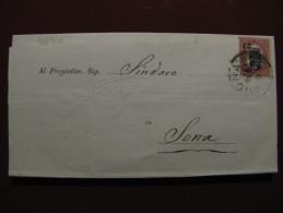 """ITALIA Regno-1878- """"Ondine"""" C. 2 Su 0.20 VERONA>SONA (descrizione) - Storia Postale"""