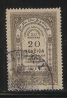 BOSNIA & HERCEGOVINA (AUSTRO-HUNGARIAN EMPIRE)1886 REVENUE 20N BROWN BAREFOOT 047 PERF 13.75 X 13.25 - Officials