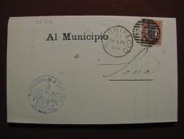 """ITALIA Regno-1878- """"Ondine"""" C. 2 Su 2,00 SAN BONIFACIO>SONA (descrizione) - Storia Postale"""
