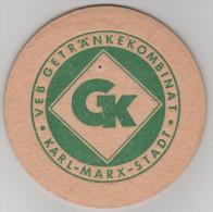 Bierdeckel Getränkekombinat Karl Marx Stadt Chemnitz VEB GK DDR - Bierdeckel