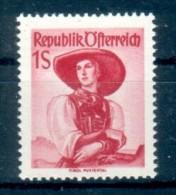 AUSTRIA  Österreich 1948 50 TRACHTEN COSTUMI 1S ** MNH LUSSO - 1945-60 Neufs
