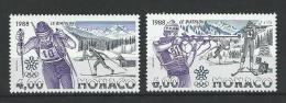"Monaco YT 1621 & 1622 "" J O. à Calgary, 2 TP "" 1988neuf** - Nuovi"