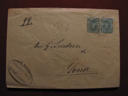 """ITALIA Regno-1891-96- """"Stemma"""" C. 5 MEZZANE DI SOTTO>SONA (descrizione) - Storia Postale"""