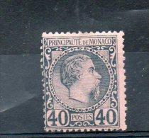 MONACO N°7*   Charnière - CHARLES III - Cote 125 € - Monaco