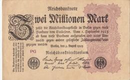 Billets - B1055-  Allemagne   - Billet   Zwei  Millionen   Mark 1923 ( Type, Nature, Valeur, état... Voir Scan) - 2 Millionen Mark