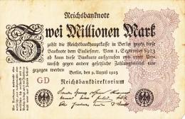 Billets - B1058-  Allemagne   - Billet   Zwei  Millionen   Mark 1923 ( Type, Nature, Valeur, état... Voir Scan) - 2 Millionen Mark