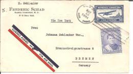 Do024/ Luftpost Nach Bremen Via New York (Brieff, Cover, Letter) - Dominikanische Rep.