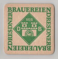 Bierdeckel Dresden Dresdner Brauereien DB Bier VEB DDR - Bierdeckel