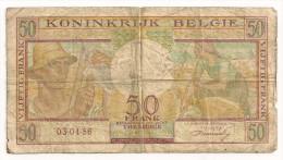 BELGIQUE 50 FRS 1956 - [ 2] 1831-... : Royaume De Belgique