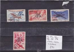 LOT DE TIMBRES  DE   France (ex-colonies & Protectorats) > Réunion  OBLITEREES AERIEN  N R 46-48-52/3 COTE 27€ - Réunion (1852-1975)