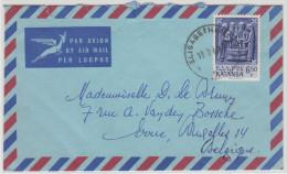 20296 6F50 Arts Katangais S/L Avion Obl Bureau Elisabethville 1 Du 17-7-1961 Vers La Belgique - Katanga