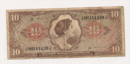 ETATS UNIS 10 Dollars - Military Payment Certificates (1946-1973)