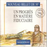 Le Nouveau Billet De 50F ST EXUPERY. Un Progrès En Matière Fiducière.  BDF - Français