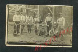 25:7: MILITARIA : CARTE PHOTO MILITAIRE X SOUVENIR DE L ARGONNE 1915 X SOLDATS MENUISIERS : - Guerre 1914-18