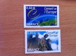 FRANCE 2007 Services Service Neuf** N°136 Et 137 Conseil De L´Europe - Service