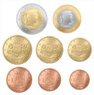 LATVIA / LETTONIE  Set  8 EURO-COINS  2.014  2014  Uncirculated   T-DL-10.613 Belg. - Letonia
