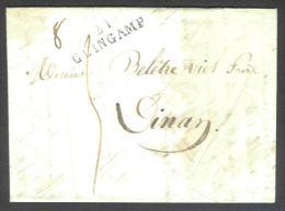 Précurseur (2 Scan) De Guingamp à Dinan Du 17/10/1824+ Détail Tarif - Marcophilie (Lettres)
